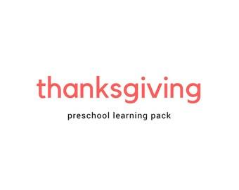 Thanksgiving Activities Preschool Pack