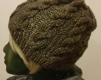 Knitted slouchy beanie hat
