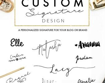 Custom Signature Design // Blog Design // Wordpress // Blogger
