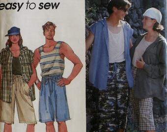 Misses Shorts Sewing Pattern - Mens Shorts Sewing Pattern - Boys Shorts Sewing Pattern - Simplicity 8847 - New - Uncut - Size Large - Xlarge
