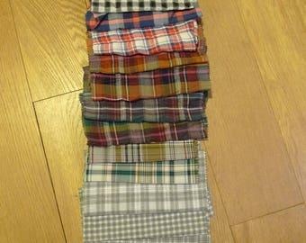 set of 56 patchwork fabrics coupons