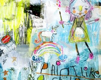 Paint Like a Child journaling - online class