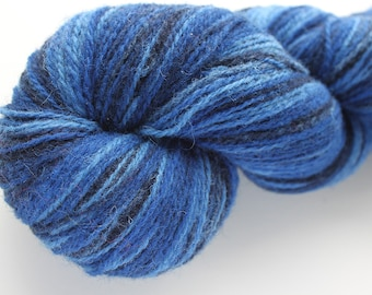 KAUNI Estonian Artistic Wool Yarn Blue II 8/2, Art Wool  Yarn for Knitting, Crochet