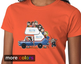 ARRESTED DEVELOPMENT Bluth Company Womens T-shirt, Buster Michael Tobias Gob Tees