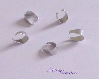 Triangle shape bails / 10 X 5 mm - stainless steel - 50 / 100