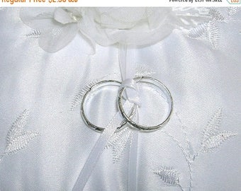 On Sale Pair of Faux Rings For Your Ring Bearer Pillow, Choose Silver or Gold Color