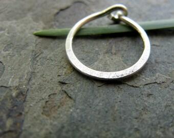 22g satin hoop-- hammered nose ring or cartilage earring--  custom hammered hoop-- primitive series-- handmade by thebeadedlily