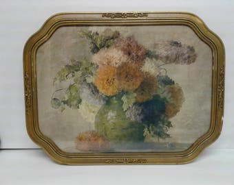 Shabby Chic Antique Framed Lithograph