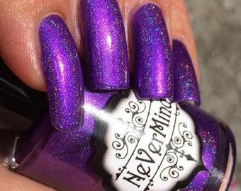 Somnophilia - Purple Linear Holo Nail Polish - Holographic Nail Lacquer - Holophilia