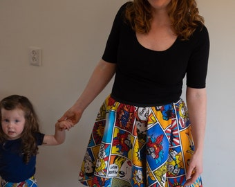100% Cotton Comic Strip Print Ladies Skirt