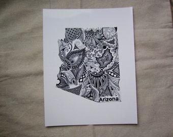 Arizona State Art/Arizona Outline