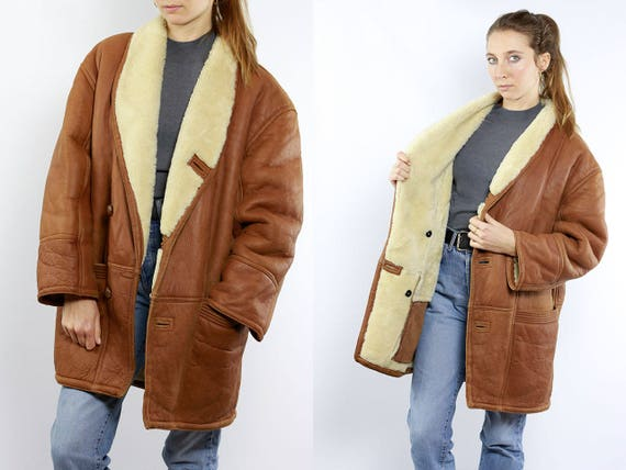 Shearling Jacket / Sheepskin Jacket / Brown Sherpa Jacket / Shearling Coat / Sheepskin Coat / Sherpa Coat / Sherpa Jacket / Shearling