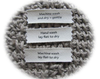 Care Labels for your handmade garments