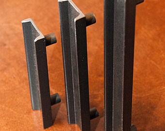 """Drawer or Cabinet Door Pull/Handle, Industrial C-Channel Structural Steel - 1.5"""" Wide"""