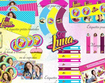 Printable Soy Luna, Party, Birthday, table decoration