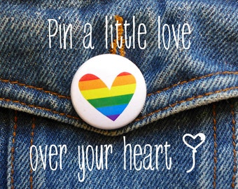 Rainbow Pin, Gay Pride Pin, LGBT Pride Badge,Rainbow Flag Pin, LGBTQ pin