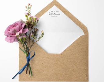 Personalised Lined Envelopes. Pack of 10
