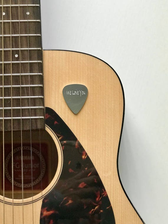Personalized Guitar Pick | Engraved Initials Monogram Name | Aluminum or Brass Gifts for Him