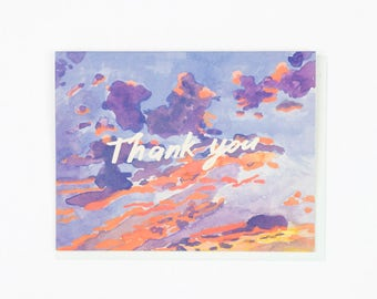 Thank You Evening Sky Card