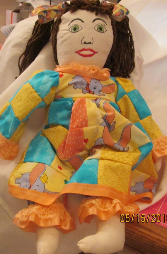 Patchwork Dumbo Doll