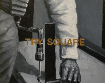 TRY SQUARE(8x8) Oil On Wood Panel Painting