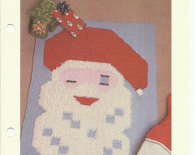 Santa Claus patchwork crochet pattern digital download