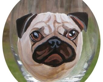 Custom Dog Painted Wine Glass ~ Birthday Gift ~ Gifts Under 50 ~ Man Gift ~ Dog Wine Glass