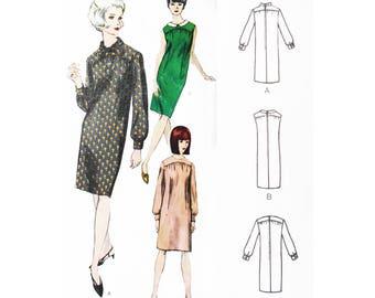 "VOGUE 6574 VINTAGE Sewing Pattern 1960's One-Piece Dress Gathered Yoke 34"" bust"