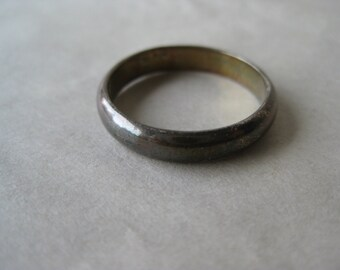 Sterling Band Ring Vintage Silver 925 size 8 TMA
