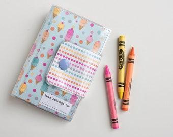 Kids Travel Crayon Wallet - Ice Cream