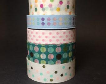 Polka Dots Washi Tape Sample #1, Polka Dots MT Sample #1