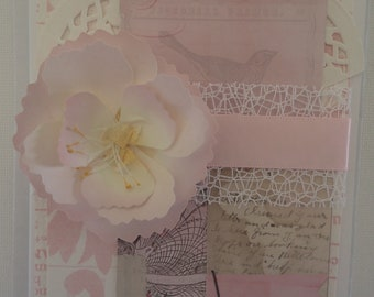 Beautiful, floral, handmade card, for a woman