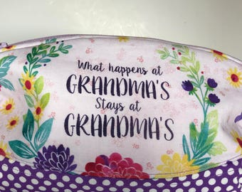 The Clematis Wristlet Pouch ... What Happens at Grandma's ... Phone Makeup Bag