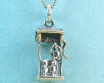 Wishing Well Sterling Silver Charm Pendant no. SC26020