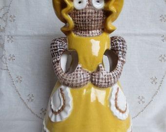 """Vintage Sittre Ceramic """"Ragdoll"""" Utensil Holder - Weird and Wonderful"""