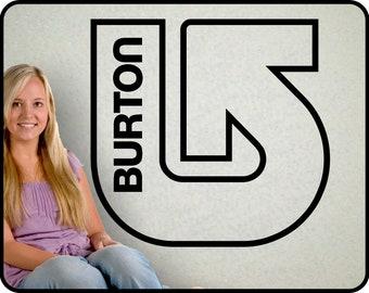 "Large BURTON Logo Wall Decal - Vinyl snowboarding Sticker Snowboarder  23"" x 24"""