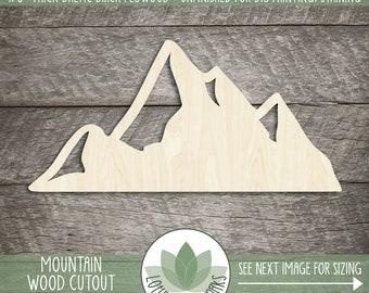 Wood Mountain Shape, Blank Wood Shapes, Wooden Mountain Cutout, Wood Sign Shapes, Mountain Nursery Decor, Mountain Wedding Favors