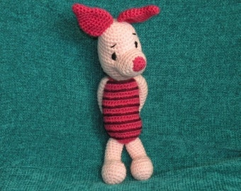 INSTANT DOWNLOAD PDF - Piglet the Winnie the Pooh's friend 12.5 inches / 31 cm amigurumi doll crochet pattern