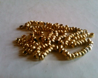 Very Rare French Torsé Gold Plated Beads 19th Century Antique Beads 10 grams Made in France