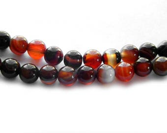 "8"" Strand 6mm Sardonyx Beads"