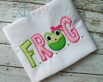 FROG (Fully Rely On God) Machine Embroidery Design
