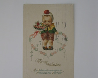 Valentine's Day Vintage Post Card - To My Valentine - Possible J Freixas - Used - 1923