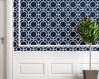 Holmby Hills Wall Stencil - Allover Stencil for Painting