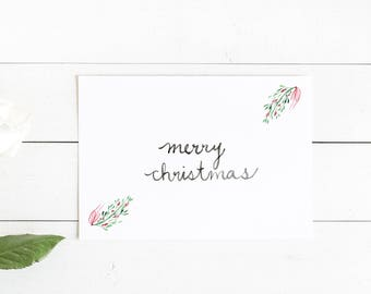 Merry Christmas Mistletoe Greeting Card