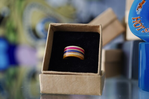 Recycled skateboard ring wood