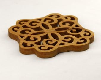 Cherry Trivet - Potholder - Wooden trivet.