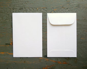 """CLEARANCE!  50 Standard Size Seed Packet Envelopes, Recycled White, Seed Envelopes, Favor Envelopes, Recycled 3x4.5"""" (76x114mm)"""