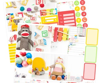 Big Happy Planner Stickers / Toy Stickers / Planner Stickers / Kids Planner Stickers / Weekly Sticker Kit / Photo Kit / PHL7