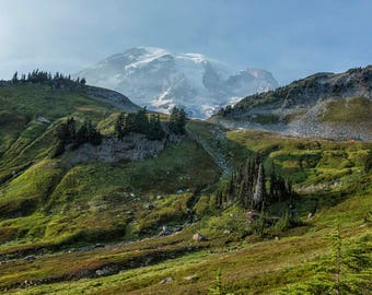 "Landscape photography - ""The Wrong Trail, the Right View"" - Fine Art Photography, Mount Rainier, National Parks, Nature photography print"