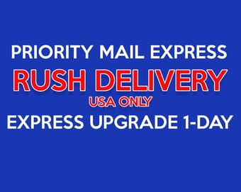 Upgrade to 1 Day Express Shipping